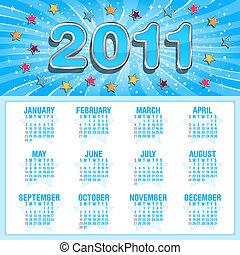 Starry calendar