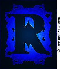 Letter quot;Rquot; - Neon capital letter R