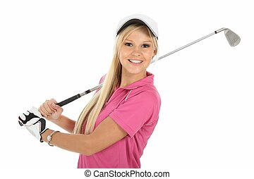 Gorgeous Blonde Golfer Lady - Beautiful young blonde golfer...
