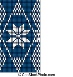 Seamless Snowflake Knit Pattern