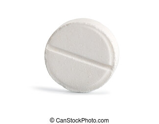 Tablet aspirin Path - Tablet aspirin isolated on a white...