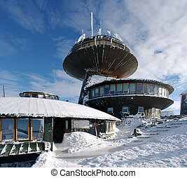 Astronomical observatory and hostel on the big mountain...