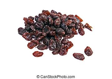 Sweet Raisins - Sweet raisins isolated on white...