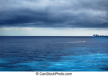 Cozumel Clouds - Clouds in hovering at sea near Cozumel, MX