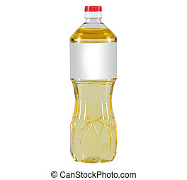 oil bottle - cooking oil bottle on white background