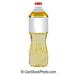 oil bottle - cooking oil bottle on white background