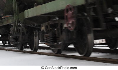 cargo train weel in winter