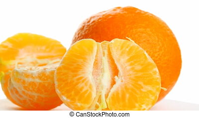 tangerine on white background, rotates