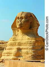 famous egypt sphinx in Giza - view on famous ancient egypt...