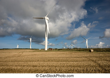 Wind turbines in Cornwall UK - Wind turbines in Truro area...