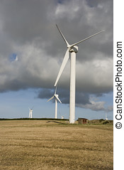 Wind Turbines, Cornwall, UK - Wind Turbines, Truro,...