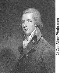 William Pitt, the Younger (1759-1806) on engraving from the...