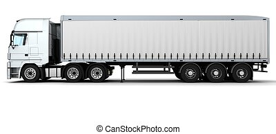 Cargo Delivery Vehicle - 3D Render of a Cargo Delivery...