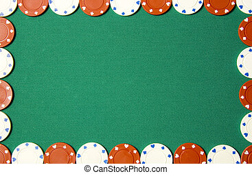 Poker background - Green poker background with gambling...