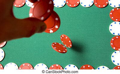 Gambling chips falling