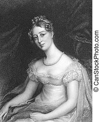 Anne Beckett on engraving from the 1800s. Engraved by...