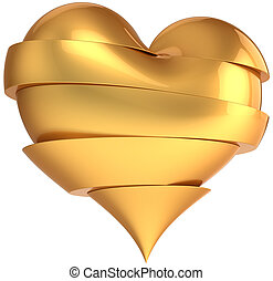 Glamour broken heart total golden