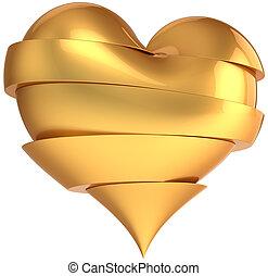 Glamour broken heart total golden - Golden luxury broken...