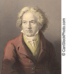 Beethoven - Ludwig van Beethoven 1770-1827 on engraving from...