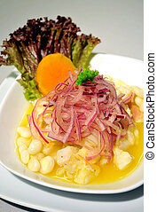 ceviche, tipical food of peru
