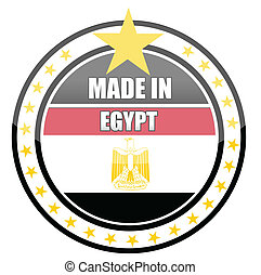 made in egypt illustration stamp isolated over a white...