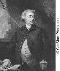 Charles James Fox (1749-1806) on engraving from the 1800s....