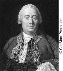 David Hume (1711-1776) on engraving from the 1800s. Scottish...