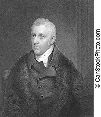Dudley Ryder, 1st Earl of Harrowby 1762-1847 on engraving...
