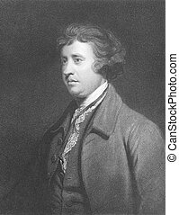 Edmund Burke (1729-1797) on engraving from the 1800s....