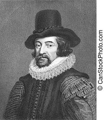 Francis Bacon 1561-1626 on engraving from the 1800s English...