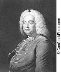 Handel - George Frideric Handel 1685-1759 on engraving from...