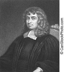 Isaac Barrow (1630-1677) on engraving from the 1800s....
