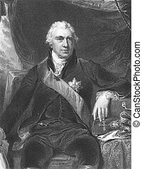 Joseph Banks 1743-1820 on engraving from the 1800s...