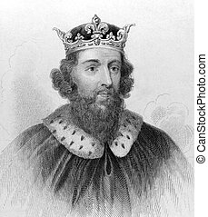 King Alfred the Great 849-899 on engraving from the 1800s...