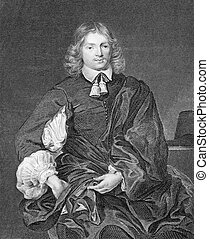 Lucius Cary, 2nd Viscount Falkland (1610-1643) on engraving...