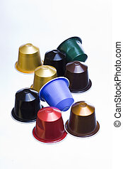 cofee capsules - modern colorful coffee capsules for a...