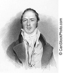 Matthew Lewis (1775-1818) on engraving from the 1800s....