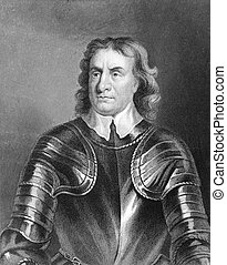 Oliver Cromwell 1599-1658 on engraving from the 1800s...