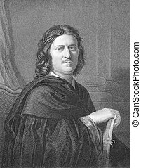 Nicolas Poussin (1594-1665) on engraving from the 1800s....