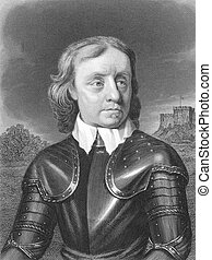 Oliver Cromwell (1599-1658) on engraving from the 1800s....