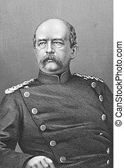 Otto von Bismarck (1815-1898) on engraving from the 1800s....