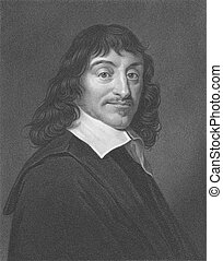 Rene Descartes (1596-1650) on engraving from the 1800s....