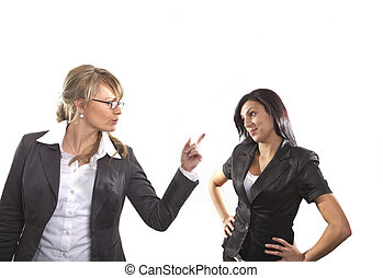 Disagreement - business professionals arguing