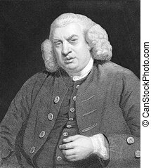 Samuel Johnson (1709-1784) on engraving from the 1800s....