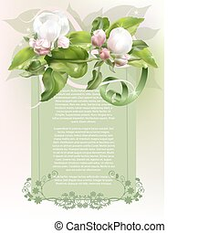 Apple bud 3 - Classic stylish festive background with apple...