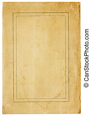 Very Old Blank Paper With Thin Double Border - Aged and worn...