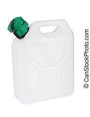 Water container, isolated against background