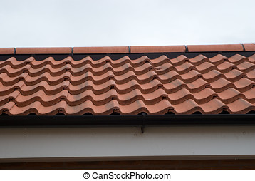 Modern Tiled Roof - Photo of a modern tiled roof with...