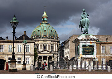 Copenhagen - Marble Church in Copenhagen, the capital of...