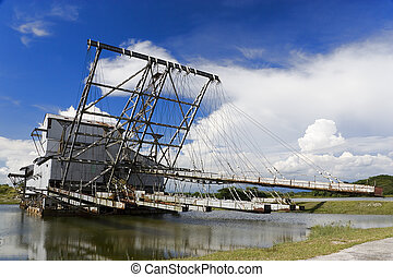 Disused Tin Dredge - Disused tin dredge, once the pride of...